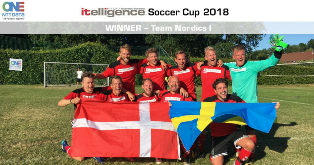 The winning soccer team was from the Nordics region.