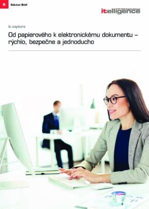 Rýchly, bezpečný a jednoduchý prechod z papierových na elektronické dokumenty pomocou it.capture