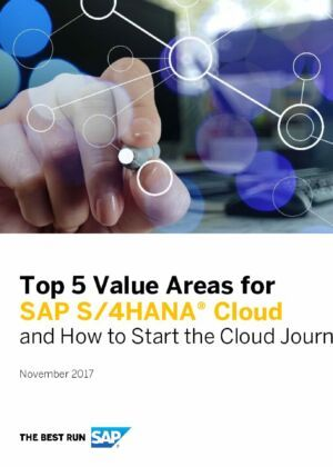 The Top 5 Value Areas for SAP S/4HANA Cloud