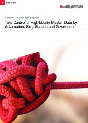 Controle sus datos maestros – rápido y fácil con nuestra solución it.mds