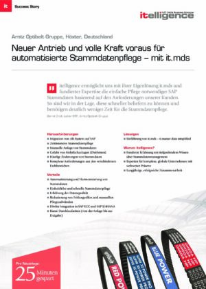 Success Story - Arntz Optibelt Gruppe - it.mds