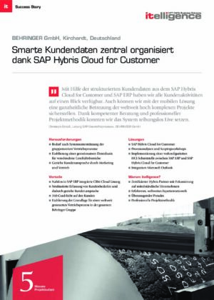 Success Story   BEHRINGER GmbH