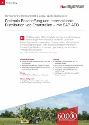 Success Story | Bernard Krone Holding GmbH & Co. KG