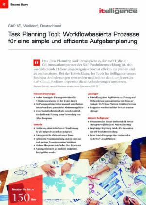 Success Story - SAP SE - Task planning Tool