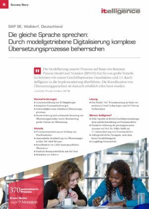 Success Story - SAP SE