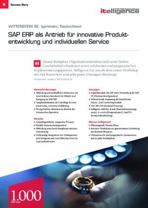 Success Story   Wittenstein ERP-Implementierung