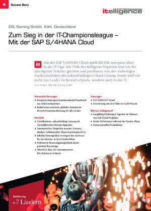 Success Story - ESL Gaming GmbH