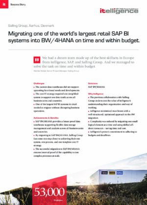 Migrating one of the world's largest retail SAP BI systems into BW/4HANA on time and within budget