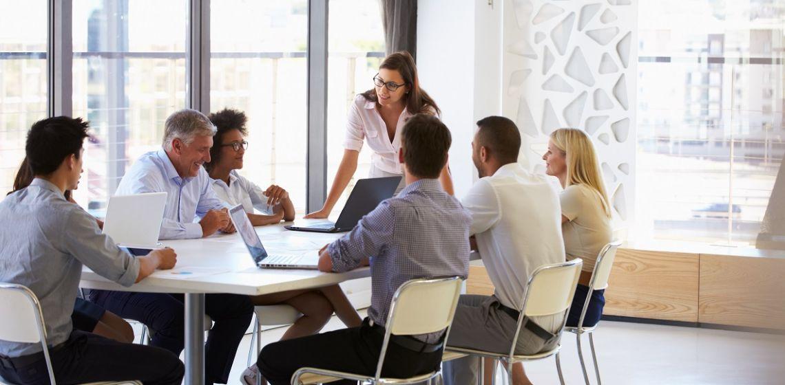 Scene of Business Meeting