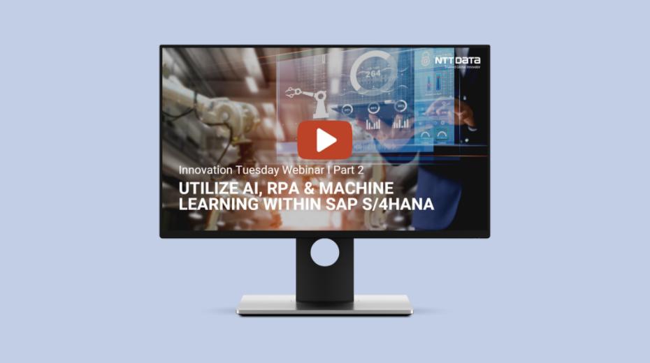 Robotics Process Automation brings value to your SAP S/4HANA.