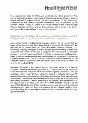 16. Corporate Governance Declaration 2017