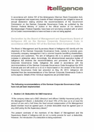 09. Corporate Governance Declaration 2010