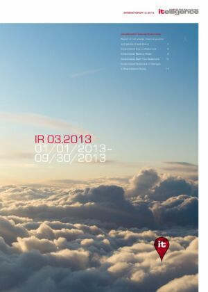 Průběžná zpráva za 3/2013