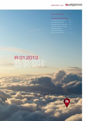Průběžná zpráva za 1/2013