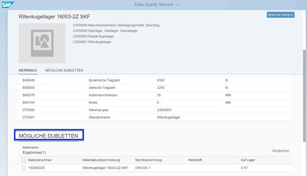 Screenshot ClassCockpit Cloud Anzeige der Dubletten