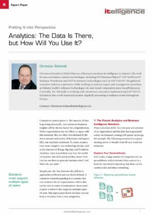 Gain Reporting, Monitoring and Analysis Capabilities with Predictive Analytics Solution