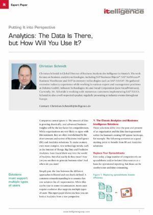 Аналитика: у нас у всех есть информация, но как ее использовать?