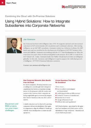 Používání hybridních řešení: Dozvíte se, jak lze integrovat dceřiné společnosti do podnikových sítí.