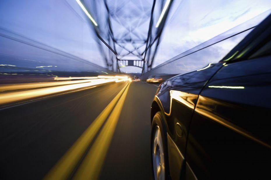 Fast Car on Bridge