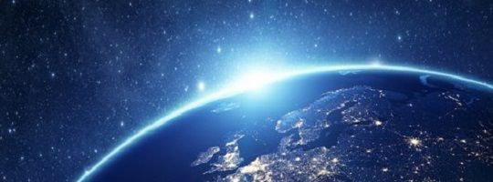 Blog image Process Driven IT architecture celestial view of earth and sunrise