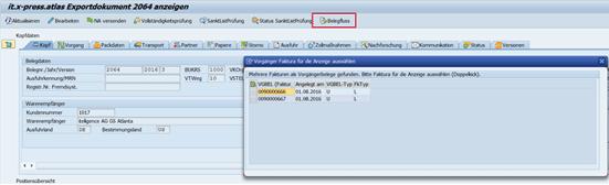 Screenshot it.x-press-atlas ATLAS-Ausfuhr Exportbeleg