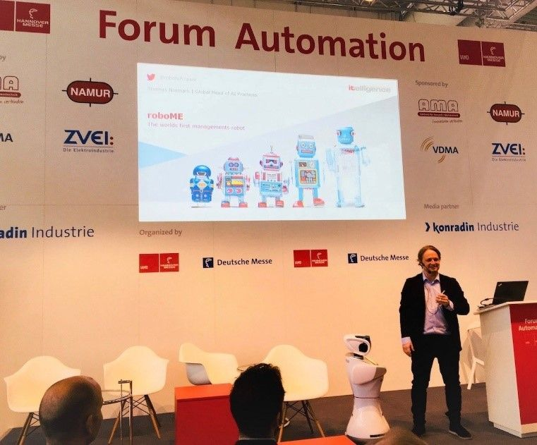 Join Pernille and Thomas at Hannover Messe talking about the automation of daily tasks at work.