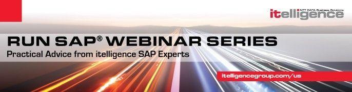 Run SAP Webinar Series