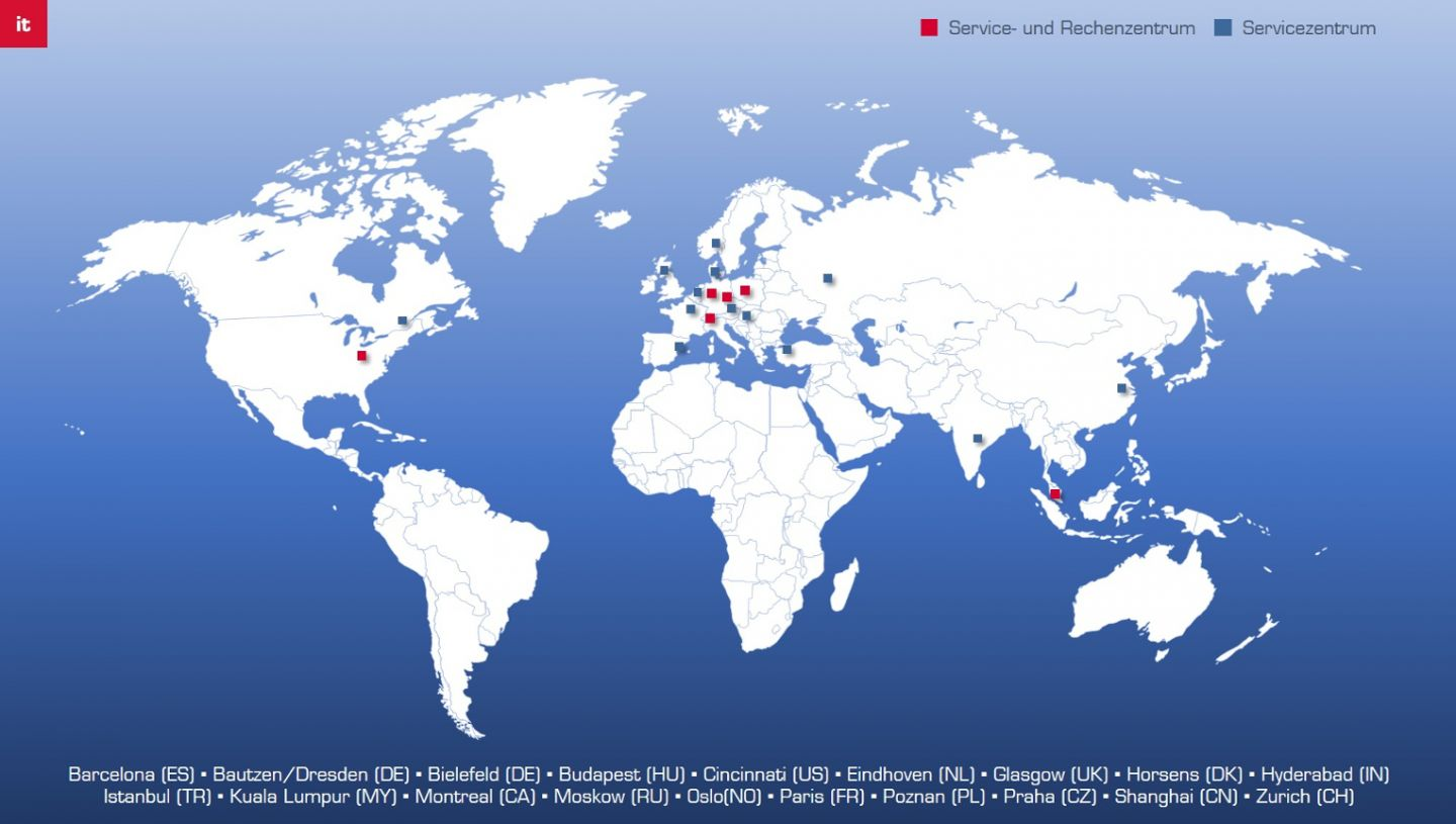 NTT DATA Business Solutions service and data centers around the world