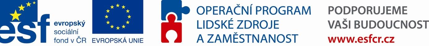 operační program lidské zdroje a zaměstnanost