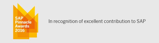 sap pinnacle ödülleri 2016