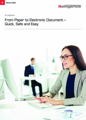 Rychlý, bezpečný a snadný přechod z papírových dokumentů na elektronické pomocí řešení it.capture