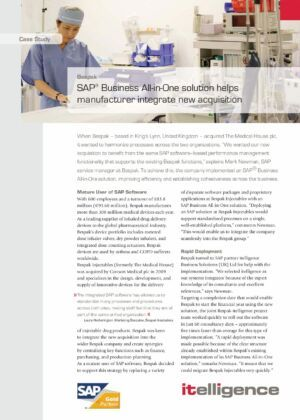SAP Business All-in-One for Bespak