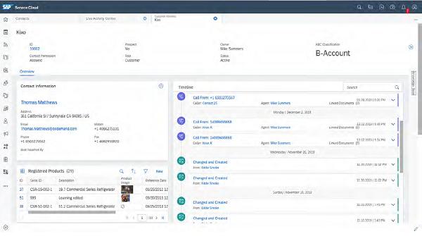sap service cloud 360-degree screen