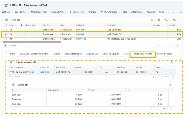 sap service cloud contract management