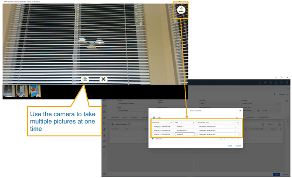 sap service cloud multiple photos
