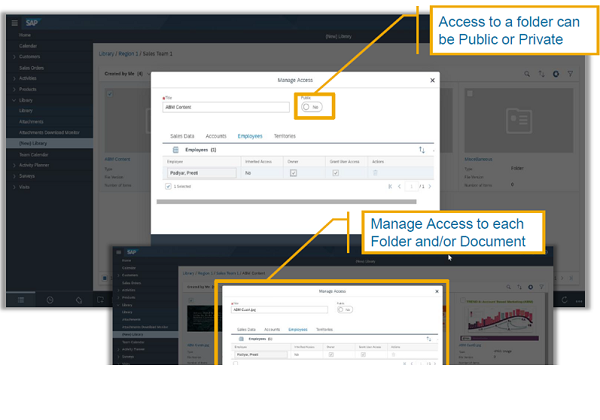 sap service cloud set access authorizations