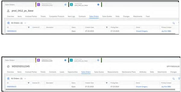 sap service cloud track sales orders