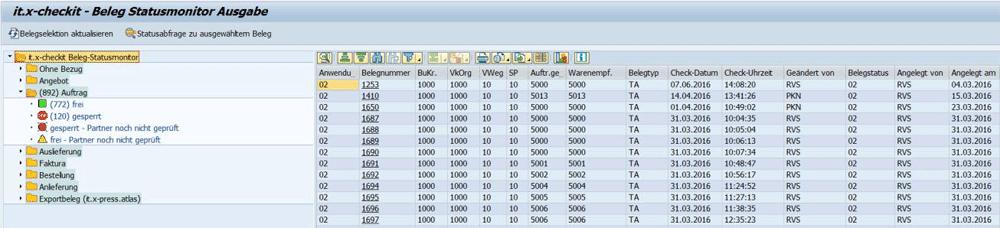 Screenshot it.x-checkit - SAP ERP Sanktionslistenprüfung