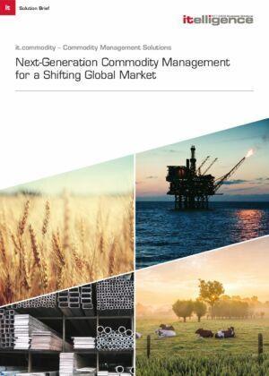 Valós idejű láthatóság a gyorsan változó globális piacra fejlesztett it.commodity használatán keresztül