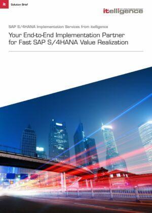 Optimiza su implementación de SAP S/4HANA y opere sencillamente en la economía digital.