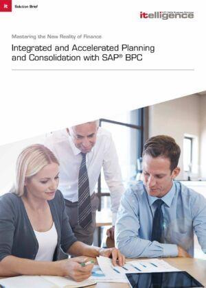 Con SAP Business Planning & Consolidation, podrá acelerar la consolidación, planificación, previsión y la creación de informes mientras reduce riesgos – en un intervalo de tiempo de tan solo 3 meses.