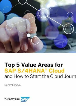 The Top 5 Value Areas for SAP S/4HANA Cloud (EN)