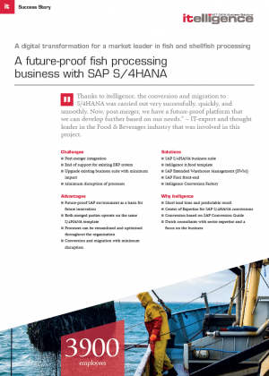 A future-proof fish processing business with SAP S/4HANA