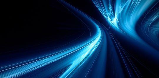 technology curve blue