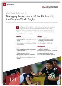 Title page of the Success Story about SAP Concur travel management at our customer Rugby World.
