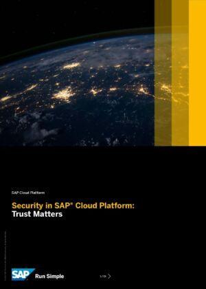 Jak SAP zajišťuje bezpečnost své SAP Cloudové platformy