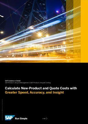 Výpočet nákladov na nové produkty a cenové ponuky s vyššou rýchlosťou a presnosťou?
