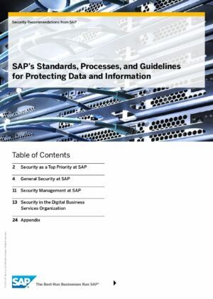 Discover SAP's Standards, Processes, and Guidelines for Protecting Data and Information