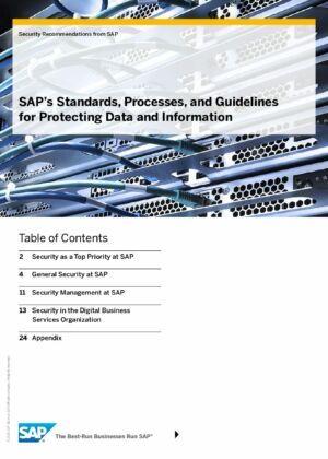 Objevte standardy SAP, procesy a pokyny k ochraně dat a informací